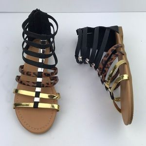 Olivia Miller Black/ Gold Sandals